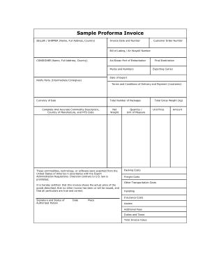 Free Download PDF Books, Generic Proforma Invoice Form Template