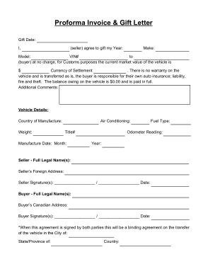 Free Download PDF Books, Proforma Invoice Letter Template