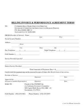 Sample Invoice Bill Format Template