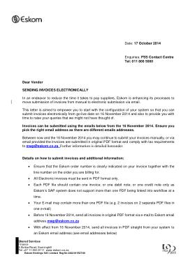 Free Download PDF Books, Invoice Letter To Vendor Template