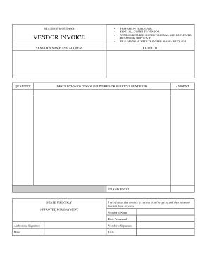 Free Download PDF Books, Vendor Invoice Sample Outline Template