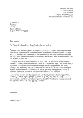 Free Download PDF Books, Nurse Cover Letter Sample Template