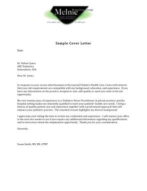 Free Download PDF Books, Nurse Resume Cover Letter Template