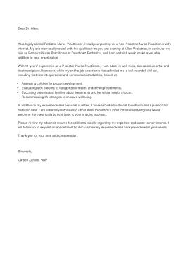 Free Download PDF Books, Pediatric Nurse Cover Letter Template