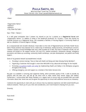 Free Download PDF Books, Registered Nurse Cover Letter Template