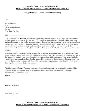 Free Download PDF Books, Sample Nurse Cover Letter Template
