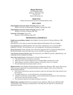 Free Download PDF Books, New Nurse Practitioner Resume Template