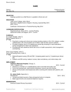 Free Download PDF Books, Nurse Resume Pdf Template