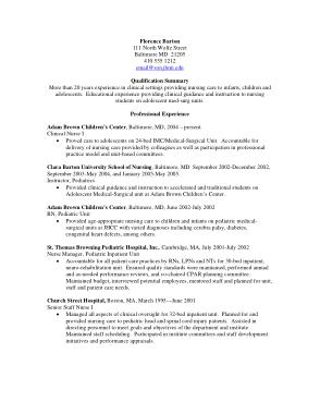 Free Download PDF Books, Professional Experience Nurse Resume Template