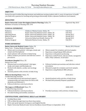 Free Download PDF Books, RN Nursing Resume Template