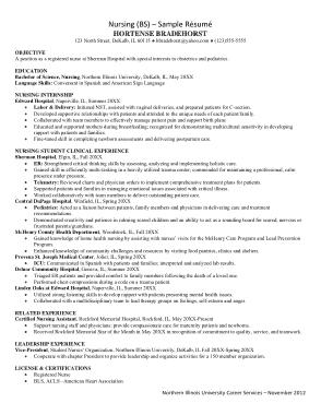 Free Download PDF Books, Sample Nurse Resume Free Template