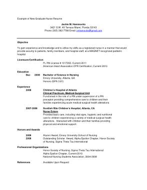 Free Download PDF Books, New Graduate Registered Nurse Resume Template