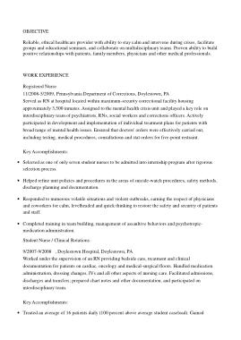 Free Download PDF Books, New Registered Nurse Resume Template