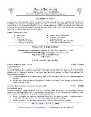 Free Download PDF Books, Registered Nurse Resume Free Template
