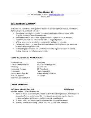 Free Download PDF Books, Registered Nurse Resume Summary Template
