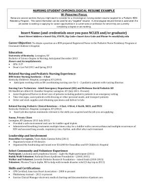 Free Download PDF Books, Pediatric Student Nurse Resume Free Template