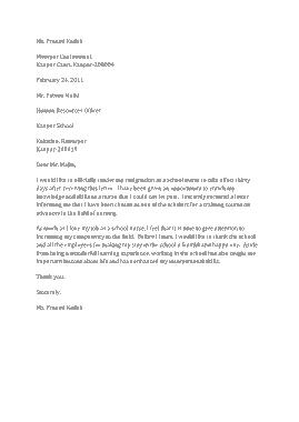Free Download PDF Books, School Nurse Resignation Letter Template