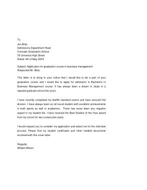Free Download PDF Books, Graduate School Application Cover Letter Template