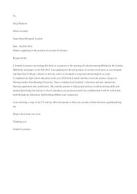 Free Download PDF Books, Senior Recruiter Cover Letter Sample Template