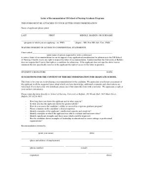 Free Download PDF Books, Graduate Nursing Recommendation Letter Template