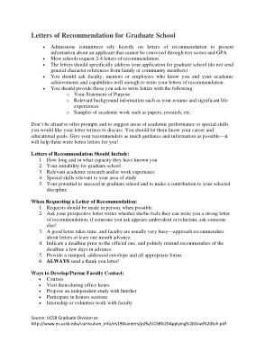 Recommendation Request Letter For Graduate School Template