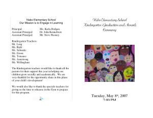 Free Download PDF Books, Kindergarten Graduation Program Template