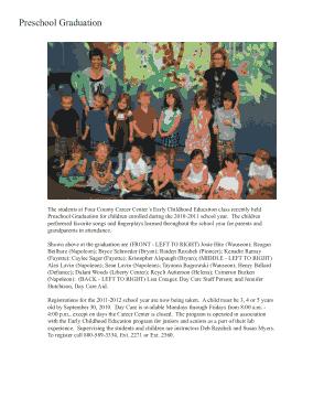 Free Download PDF Books, Preschool Graduation Program Template