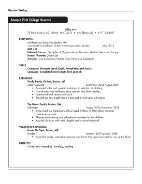 Free Download PDF Books, Recent College Graduate Resume Template