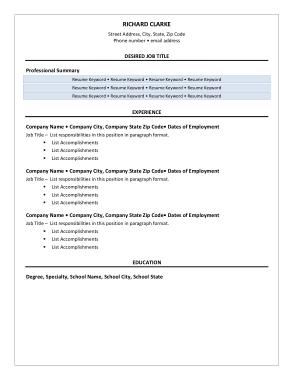Free Download PDF Books, Sample New Graduate Resume Template
