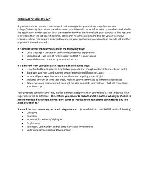 Free Download PDF Books, Graduate School Resume Objectives Template