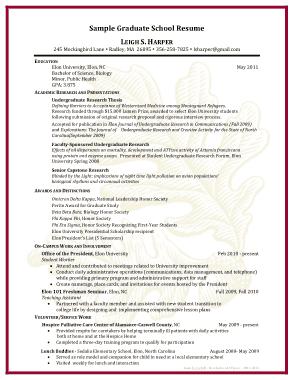 Free Download PDF Books, Sample Graduate School Resume Template