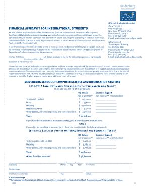 Free Download PDF Books, Student Financial Affidavit Form Template