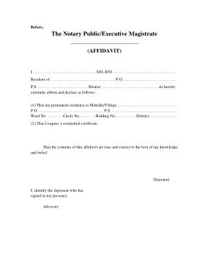Free Download PDF Books, Address Proof Affidavit Form Template