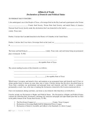 Free Download PDF Books, Affidavit Of Truth Notice Form Template