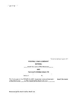 Free Download PDF Books, Sample Personal Loan Agreemen Form Template