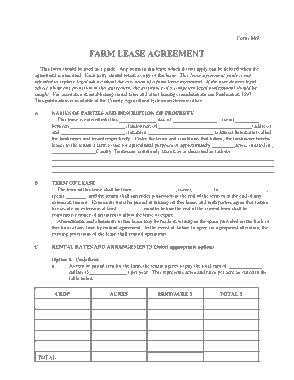 Free Download PDF Books, Farm Agreement Form Template