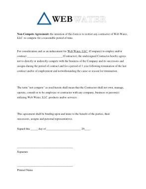 Free Download PDF Books, Non Compete Agreement Form PDF Template