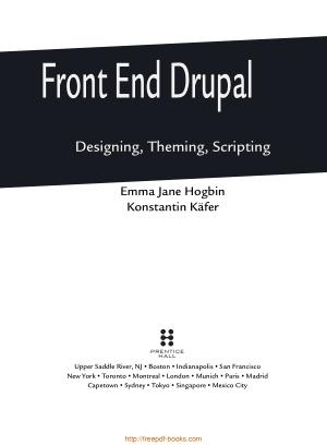 Front End Drupal Designing Theming Scripting