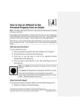 Free Download PDF Books, Montana Small Estate Affidavit Form Template