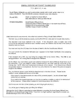 Free Download PDF Books, Tennessee Small Estate Affidavit Form Template