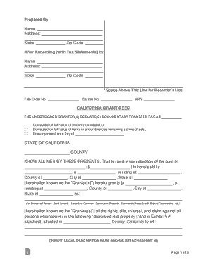 Free Download PDF Books, California Grant Deed Form Template