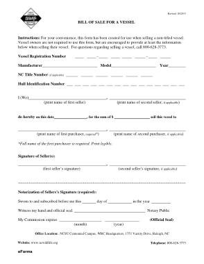 Free Download PDF Books, North Carolina Boat Bill of Sale Form Template