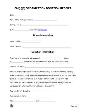 Free Download PDF Books, 501c3 Donation Receipt Form Template