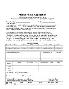 Free Download PDF Books, Alaska Rental Application Form Template