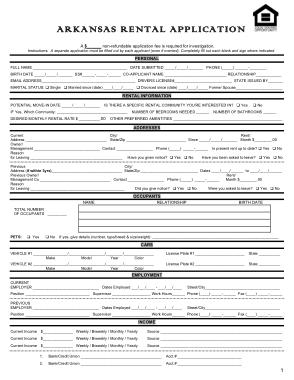 Free Download PDF Books, Arkansas Rental Application Form Template