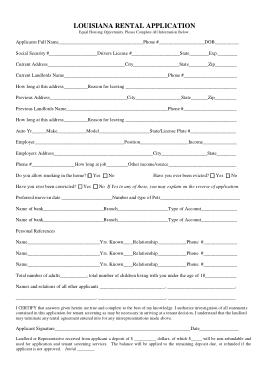 Free Download PDF Books, Louisiana Rental Application Form Template