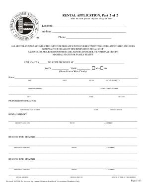 Free Download PDF Books, Montana Rental Application Form Template