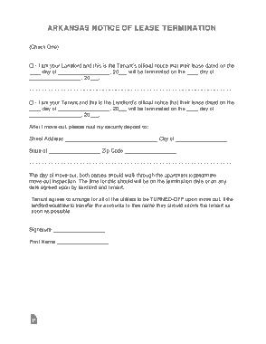 Free Download PDF Books, Arkansas Lease Termination Letter Template