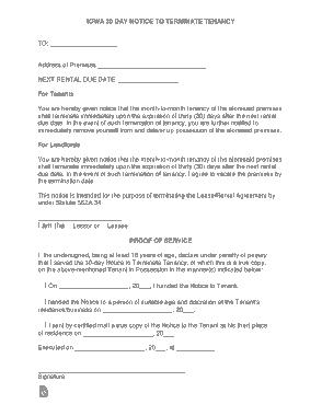 Free Download PDF Books, Iowa Lease Termination Letter Template