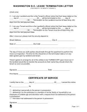 Free Download PDF Books, Washington Dc Lease Termination Letter Template